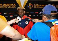 East Rutherford, NJ - Sunday June 12, 2016:  during a Copa America Centenario Group B match between Ecuador (ECU) and Haiti (HAI) at MetLife Stadium.