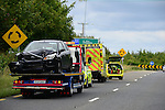 the scene of the accident on the Drogheda to Slane roadon Sunday evening, the occupants of the vehicles were removed to Our Lady of Lourdes hospital in Dorgheda.<br /> Picture:  ©Newsfile   Andy Spearman<br /> <br /> <br /> All image usage must carry ©Newsfie   Andy Spearman