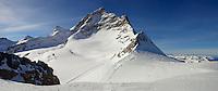 Jungfrau mountain Peak from Top Of Europe - Swiss Alps - Switzerland