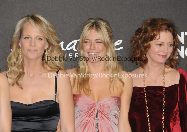 Helen Hunt,Sienna Miller & Susan Sarandon at The Montblanc Signature for Good Charity Gala benefiting Unicef held at Paramount Studios in Hollywood, California on February 20,2009                                                                     Copyright 2008 Debbie VanStory/RockinExposures