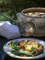 """Europe/France/Languedoc-Roussillon/11/Aude/Carcassonne: Soupe à la Rouzolle - Recette d'Eliane et Lucienne Bosc du restaurant """"La Table d'Esclarmonde"""""""