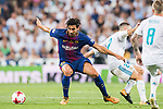 Andre Filipe Tavares Gomes (l) of FC Barcelona fights for the ball with Daniel Carvajal Ramos of Real Madrid during their Supercopa de Espana Final 2nd Leg match between Real Madrid and FC Barcelona at the Estadio Santiago Bernabeu on 16 August 2017 in Madrid, Spain. Photo by Diego Gonzalez Souto / Power Sport Images