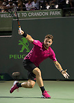 March 27 2017:  Stanislas Wawrinka (SUI) defeats Malek Jaziri (TUN) by 6-3, 6-4, at the Miami Open being played at Crandon Park Tennis Center in Miami, Key Biscayne, Florida.