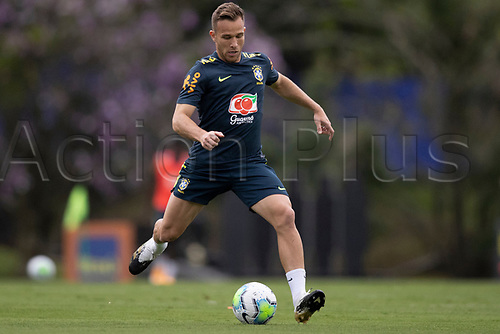 10th November 2020; Granja Comary, Teresopolis, Rio de Janeiro, Brazil; Qatar 2022 qualifiers; Arthur of Brazil during training session in Granja Comary