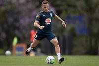 10th November 2020; Granja Comary, Teresopolis, Rio de Janeiro, Brazil; Qatar 2022 qualifiers; Arthur of Brazil during training session in Granja Comary