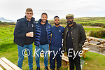 The stars of the League of their Own on a film shoot in West Kerry on Tuesday, l to r: Freddie Flintoff, Jamie Redknapp, Freddie Flintoff, Patrice Evra and Romesh Ranganathan