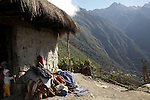 Trek from the remote Incan ruins of Choquequirao through to Aguas Calientes and the ruins of Machu Picchu in the district of Cusco, Peru.  Camp at Maisel, 3450m.
