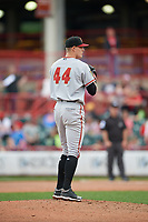 Altoona Curve pitcher Blake Weiman (44) during an Eastern League game against the Erie SeaWolves on June 5, 2019 at UPMC Park in Erie, Pennsylvania.  Altoona defeated Erie 6-2.  (Mike Janes/Four Seam Images)