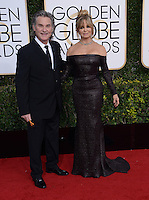 Goldie Hawn + Kurt Russell @ the 74th annual Golden Globe awards held @ the Beverly Hilton hotel. January 8, 2017