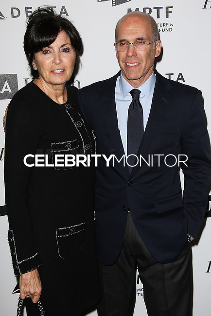 HOLLYWOOD, LOS ANGELES, CA, USA - APRIL 05: Marilyn Katzenberg, Jeffrey Katzenberg at the 3rd Annual Reel Stories, Real Lives Benefiting The Motion Picture & Television Fund held at Milk Studios on April 5, 2014 in Hollywood, Los Angeles, California, United States. (Photo by Celebrity Monitor)