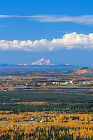 20, 3020+ Ft. Mt. Denali, Looms In The Distance Behind The University Of Alaska Fairbanks Campus And The Tanana River.