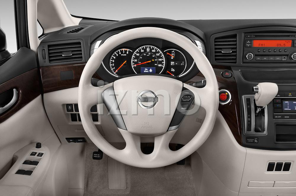 Car pictures of steering wheel view of a 2017 Nissan Quest S 5 Door Minivan Steering Wheel