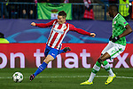 Atletico de Madrid's Kevin Gameiro , PSV Eindhoven's Nicolas Isimat-Mirin  during the Champions League match between Atletico de Madrid and PSV Eindhoven at Vicente Calderon Stadium in Madrid , Spain. November 23, 2016. (ALTERPHOTOS/Rodrigo Jimenez)