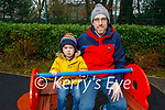 Enjoying the playground in the Killarney National park on Saturday, l to r: Brian and James Prendiville