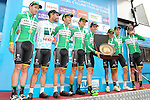 Team winners Caja Rural-Seguros RGA after Stage 8 of the 2015 Presidential Tour of Turkey running 124km from Istanbul to Istanbul. 3rd May 2015.<br /> Photo: Tour of Turkey/Mario Stiehl/www.newsfile.ie