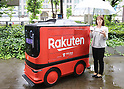 Delivery robots displayed in Tokyo