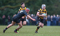 Saturday 18th February 2017   CCB vs RBAI<br /> <br /> Michael Lowry during the Ulster Schools' Cup Quarter Final clash between Campbell College Belfast and RBAI at Foxes Field, Campbell College, Belmont, Belfast, Northern Ireland.<br /> <br /> Photograph by John Dickson   www.dicksondigital.com