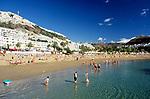 Spanien, Kanarische Inseln, Gran Canaria, Puerto Rico: Strand   Spain, Canary Islands, Gran Canaria, Puerto Rico: beach