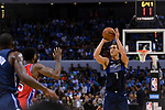 Dwight Powell of Dallas Mavericks (R) in action during the NBA China Games 2018 match between Dallas Mavericks and Philadelphia 76ers at Universiade Center on October 08 2018 in Shenzhen, China. Photo by Marcio Rodrigo Machado / Power Sport Images