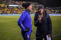COLUMBUS, OH - NOVEMBER 07: Carli Loyd #10 of the United States warming up during a game between Sweden and USWNT at MAPFRE Stadium on November 07, 2019 in Columbus, Ohio.