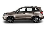 Car driver side profile view of a 2019 Subaru Forester Luxury 5 Door SUV