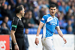 St Johnstone v Partick Thistle…13.05.17     SPFL    McDiarmid Park<br />Graham Cummins has words with the linesman<br />Picture by Graeme Hart.<br />Copyright Perthshire Picture Agency<br />Tel: 01738 623350  Mobile: 07990 594431