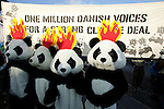 WWF Angry Pandas on the Global Day of Action. (Images free for Editorial Web usage for Fresh Air Participants during COP 15. Credit: Robert vanWaarden)