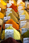 Spices for sale in the Souq Medhat Pasha ,or Straight Street, part of the main shopping bazaar of the Old City.
