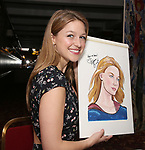Melissa Benoist - Sardi's portrait unveiling