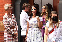 NEW YORK, NY - July 20: Sarah Jessica Parker, Kristin Davis, Cynthia Nixon and Michael Patrick King on the set of the HBOMax Sex and the City reboot series And Just Like That on July 20, 2021 in New York City. Credit: RW/MediaPunch