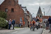 Jeroen Meijers (NED/roompot - Nederlandse Loterij) leading the breakaway group through town. <br /> <br /> <br /> 103th Kampioenschap van Vlaanderen 2018 (UCI 1.1)<br /> Koolskamp – Koolskamp (186km)
