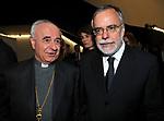 ANDREA RICCARDI CON L'ARCIVESCOVO VINCENZO PAGLIA