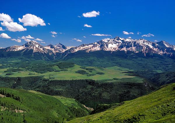 Sunshine Peak and Wilson Peak, San Juan Mountains, Colorado, USA .  John leads private photo tours in Telluride and the San Juan Mountains. Year-round Colorado photo tours.