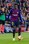 Ousmane Dembele of FC Barcelona in action during the La Liga 2018-19 match between FC Barcelona and Villarreal at Camp Nou on 02 December 2018 in Barcelona, Spain. Photo by Vicens Gimenez / Power Sport Images
