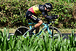 Belgian Champion Wout Van Aert (BEL) Team Jumbo-Visma in action during Stage 13 of the 2019 Tour de France an individual time trial running 27.2km from Pau to Pau, France. 19th July 2019.<br /> Picture: ASO/Alex Broadway | Cyclefile<br /> All photos usage must carry mandatory copyright credit (© Cyclefile | ASO/Alex Broadway)