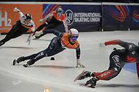 SPEEDSKATING: DORDRECHT: 05-03-2021, ISU World Short Track Speedskating Championships, Heats 500m Men, Sjinkie Knegt (NED), ©photo Martin de Jong