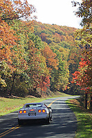 Fall colors across the Blue Ridge Parkway and the Shenandoah National Park.