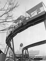1967 FILE PHOTO - ARCHIVES -<br /> <br /> Impressed by expo 67 where he and a City Council party are touring today; Mayor William Dennison wants a Toronto minirail joining the Canadian National Exhibition via a tunnel to a beefed-up Centre Island amusement area.<br /> <br /> 1967<br /> <br /> PHOTO : Boris Spremo - Toronto Star Archives - AQP