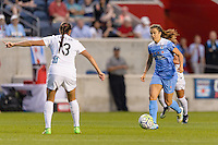 Chicago, IL - Saturday July 30, 2016: Stephanie McCaffrey during a regular season National Women's Soccer League (NWSL) match between the Chicago Red Stars and FC Kansas City at Toyota Park.