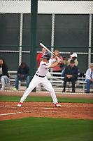 Nicholas Fajardo (2) of Jordan High School in Durham, North Carolina during the Under Armour All-American Pre-Season Tournament presented by Baseball Factory on January 14, 2017 at Sloan Park in Mesa, Arizona.  (Zac Lucy/MJP/Four Seam Images)
