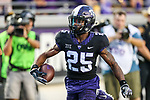 TCU Horned Frogs wide receiver KaVontae Turpin (25) in action during the game between the Jackson State Tigers and the TCU Horned Frogs at the Amon G. Carter Stadium in Fort Worth, Texas.