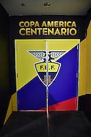 Glendale, AZ - Wednesday June 08, 2016:  Ecuador locker room prior to a Copa America Centenario Group B match between Ecuador (ECU) and Peru (PER) at University of Phoenix Stadium.