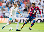 Lucas Vazquez Iglesias of Real Madrid (L) fights for the ball with Jose Gomez Campana of Levante UD (R) during the La Liga match between Real Madrid and Levante UD at the Estadio Santiago Bernabeu on 09 September 2017 in Madrid, Spain. Photo by Diego Gonzalez / Power Sport Images