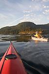 San Juan Islands, Sea Kayakers, Cypress Island, Rosario Strait, Puget Sound, Washington State, Pacific Northwest, USA