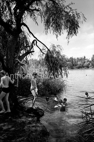 Krasnodar, Russia  .1998.Swimming in Krasnodar..
