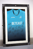 A Swansea top be sold at auction by Swansea City FC Community Trust. Fairwood Training Complex in Swansea, Wales, UK. Wednesday 29 March 2017