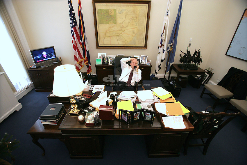 VP Cheney: live telephone radio interview with Rush Limbaugh in the Vice President's Office.