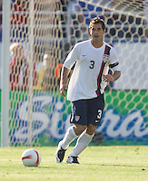 Team captain Carlos Bocanegra looks to pass. The USA defeated China, 4-1, in an international friendly at Spartan Stadium, San Jose, CA on June 2, 2007.
