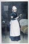 Red Cross hospital nurse