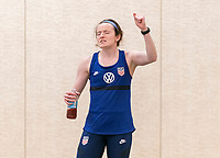ORLANDO, FL - JANUARY 12: Rose Lavelle #16 of the USWNT sings at the team hotel on January 12, 2021 in Orlando, Florida.
